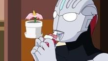 奥特曼广告 欧布奥特曼喜欢喝果冻
